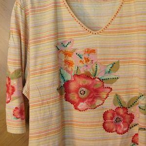 Vintage plus size maternity 3/4 sleeve soft tee 3X